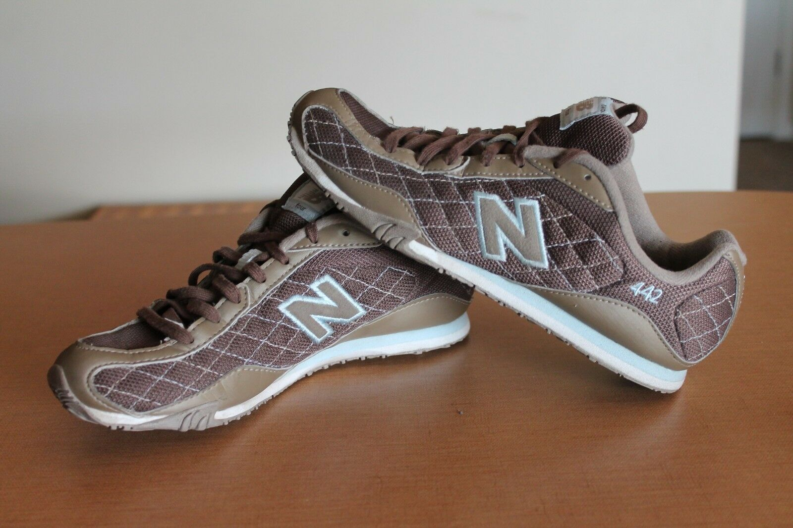 NB New Balance 442  Women's 6.5 6.5 6.5 Athletic Shoes Brown  Light Blue e29295