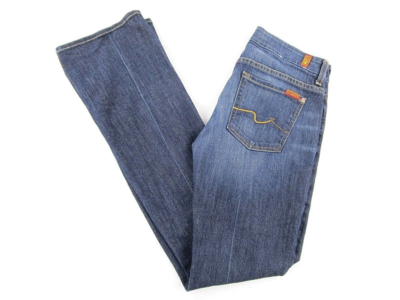 7 For All Mankind Womens Jeans Kimmie Bootcut Dark Wash SIZE 28