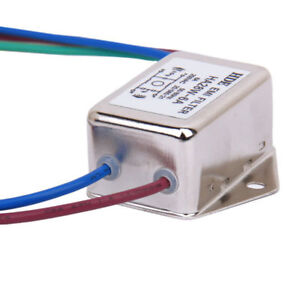 Details about 250VAC 6A AC Power EMI Filter Switch Single Phase Line Noise  Suppressor HA28W