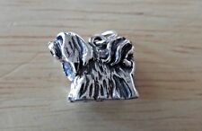 Sterling Silver 3D 14x17mm Shih Tzu or Lhasa Apso Dog Charm