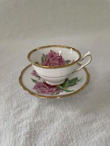 Collingwoods Bone China Teacup And Saucer Tudor Rose Vintage