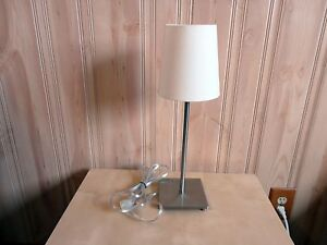 Image Is Loading IKEA Stainless Steel Table Lamp WITH ON OFF