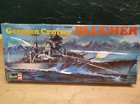 Vintage Revell German Cruiser Blucher 1/720 H-480 1974