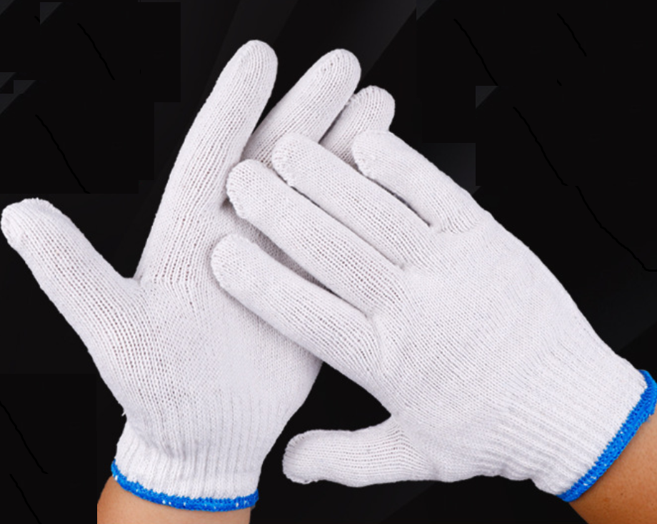 100 Pairs Safety Work Gloves Poly Cotton Knitted Heavy Duty Butcher Gardening