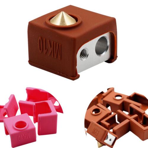 MK8//9//10 Replicator Prusa Silicone Socks Heater Block Insulation Case 3D Printer