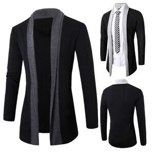 Stylish-Men-039-s-Fashion-Cardigan-Jacket-Slim-Long-Sleeve-Casual-Coat-Fashion-Man-039-s