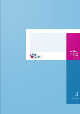 Spaltenbuch A4 40Bl 3 Spalten