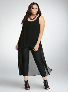 99b1aad86d6 NEW Torrid Chiffon Hi-Lo Tank Top   Shirt Plus Size 3 SOLD OUT IN ...