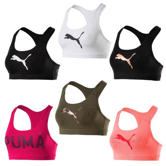 Puma Femmes Powershape Forever Logo Bustier Débardeur Soutien Gorge Sport Bra