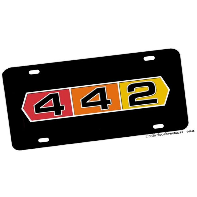 Oldsmobile 442 Emblem Design Aluminum License Plate