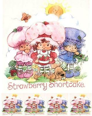 """Strawberry Shortcake Iron On Transfer 5/"""" x 5.5/"""" for LIGHT Colored Fabric"""