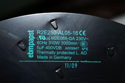 ebmpapst R2E250-AL05-16 Lüfter Radialventilator Ventilator R2E250AL0516 Gebläse