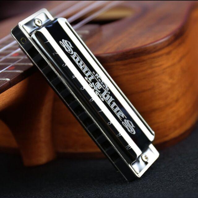 Swan Diatonic Blues Harmonica/ Mouthorgan 10 Holes C Key Harp Mouth Organ AZ