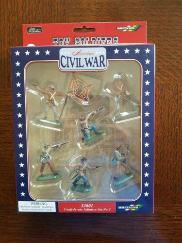BRITAINS 52001 Confederate Infantry Set numéro 2 Guerre civile