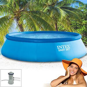 Intex piscina fuoriterra pool 457x122 con pompa impianto - Impianto filtrazione piscina prezzo ...
