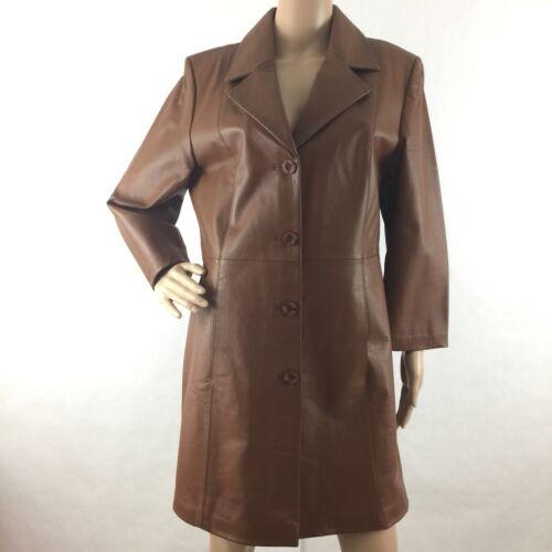 en habillée en de Chadwick véritable trench M cuir avec boutonnage moyen Veste qwdxU5nCw