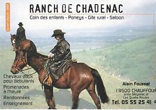 CARTE PUBLICITAIRE - RANCH DE CADENAC - PONEY CHEVAL - ADVERT CARD