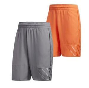 New-adidas-N3XT-L3V3L-Mens-Basketball-Shorts-S-XL-Grey-Orange-sport-gym