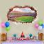 Wandtattoo-Wandsticker-Wandaufkleber-Kinderzimmer-Fussball-3D-Stadion-138-1 Indexbild 2
