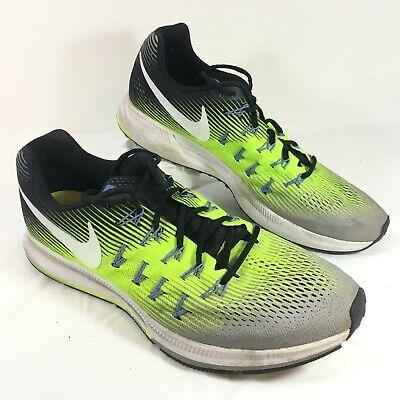 annorlunda stabil kvalitet 100% autentisk GUC Men's Nike Zoom Pegasus 33 Green Gray Running Shoes Sz 13 | eBay