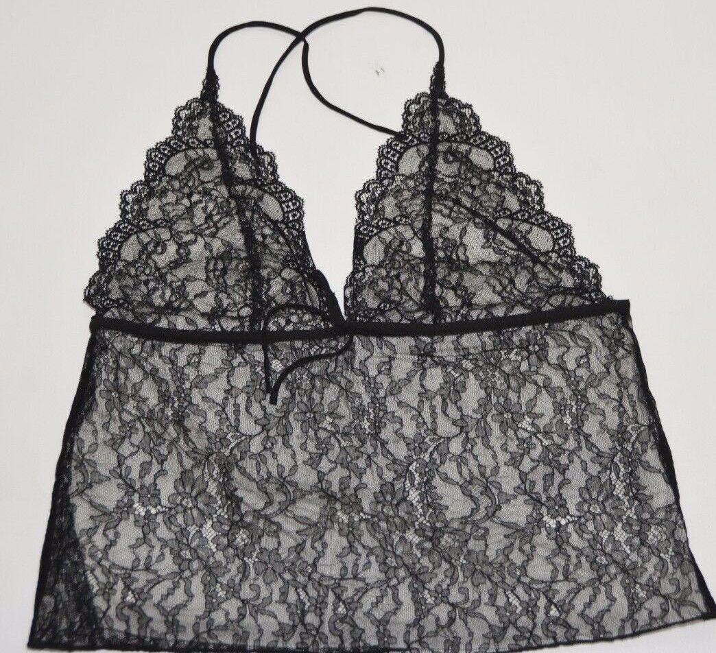 Ralph Lauren schwarz Label Woherren  schwarz Lace Top Größe Large