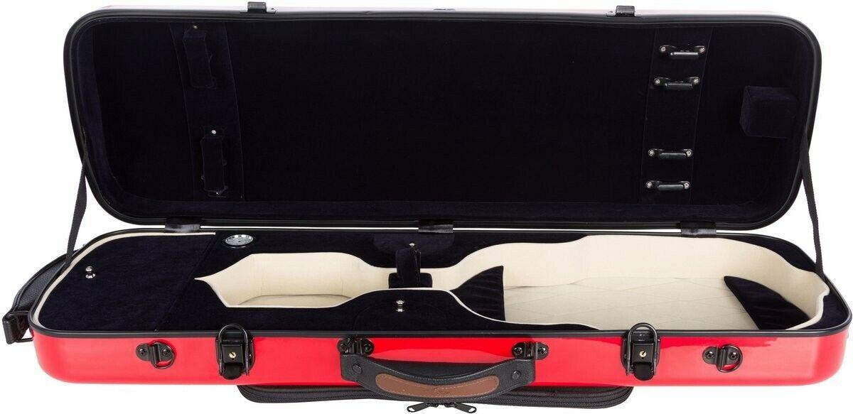 FR Étui pour violon en fibre de verre Fiber Oblong 4 4 M-case rot Blau Marine