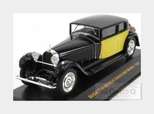 Bugatti 41 Royale Weymann 1929 Black Yellow IXO 1:43 MUS061