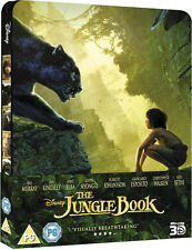 The Jungle Book 3D + 2D Blu-Ray Limited Edition Steelbook Brand New Region Free.