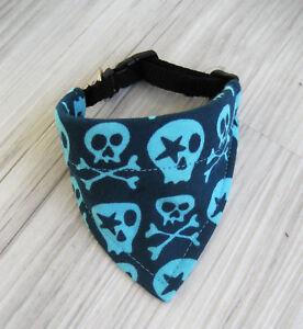 Skull-Halsband-verstellbar-Halsumfang-23-26-cm-Hundehalstuch-Hundebekleidung