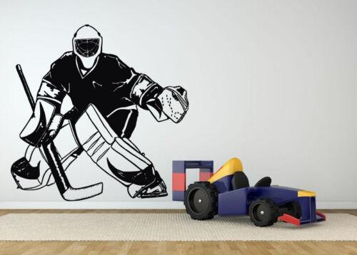 Wall Sticker Hockey Player Game Sport  Vinyl Mural Decal Decor ZX1376