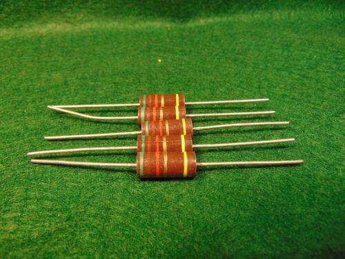 1 5 Pack Carbon Comp 5.1K 5100 OHM 2 Watt 5/% Resistors NOS