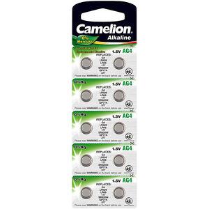 Camelion Knopfzelle AG4 / LR66 / LR626 / 177, 1,5V, 20mAh ...