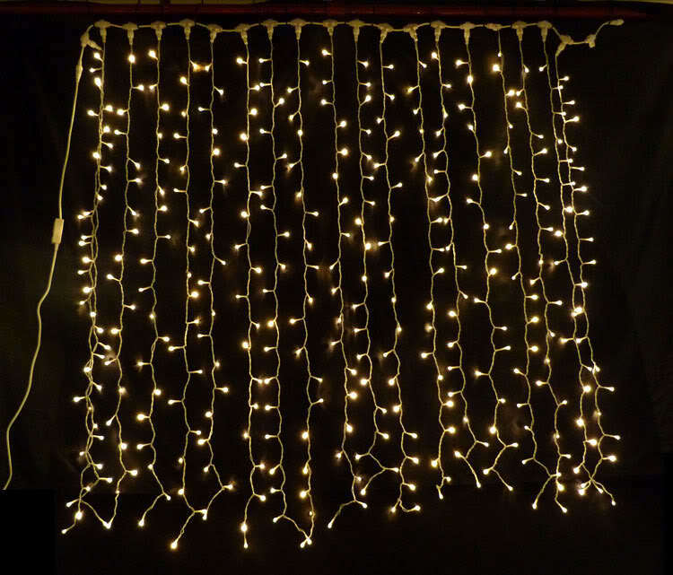 CONNECTABLE WARM Weiß LED CURTAIN LIGHTS WEDDING CHRISTMAS XMAS HOTEL LIGHTING