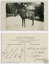 CHEVAL DE SELLE.RIDING HORSE.PHOTO-CARTE.SPORT.HIPPISME.ENFANT.