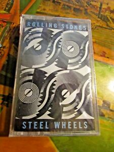 ROLLING STONES STEEL WHEELS CASSETTE TAPE