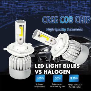 CREE-H4-LED-Headlight-Kit-Light-Bulbs-Hi-Lo-Beam-6000K-9003-HB2-1850W-277500LM