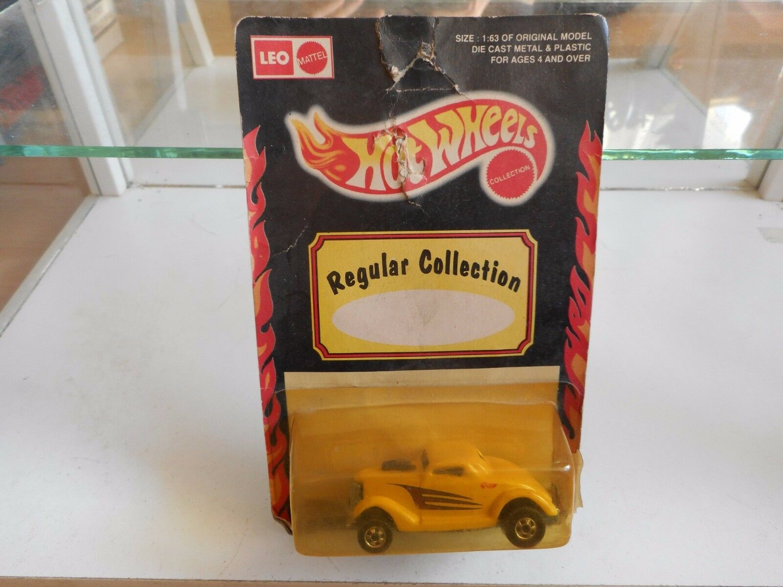 Leo Mattel Hotwheels Neet Streeter in jaune on Blister (Made in India)