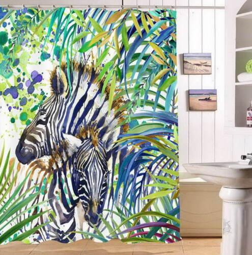 Flowers Zebra Waterproof Bathroom Polyester Shower Curtain Liner Water Resistant