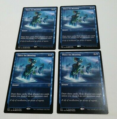 FOIL THIRST FOR MEANING x4  ~mtg NM Theros Beyond Death Com