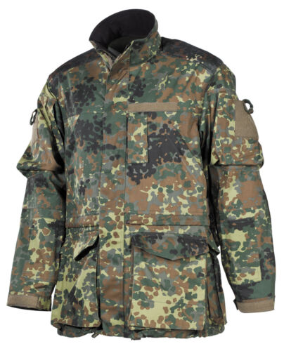 MFH BW Kampfjacke Einsatz//Übung Lang Flecktarn Bundeswehr Jacke Tarnjacke S-3XL