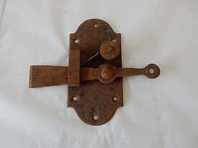 Other Architectural Antiques Hearty Georgian Look Very Old Door Or Cottage Super Steel Latch B Firm In Structure Antiques