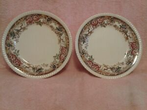 JOHNSON-BROS-034-DEVONSHIRE-10-034-DINNER-PLATES-MADE-IN-ENGLAND-LOT-OF-TWO