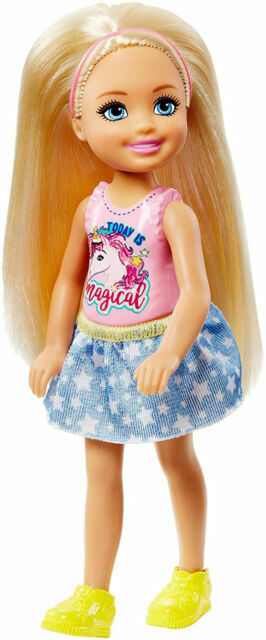 Mattel Barbie Club Chelsea Doll Blonde With Unicorn Top Frl80 For Sale Online Ebay