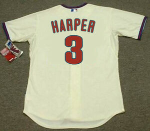 cheap for discount b321c be597 Image is loading BRYCE-HARPER-Philadelphia-Phillies-Majestic-Authentic-034- Cool-