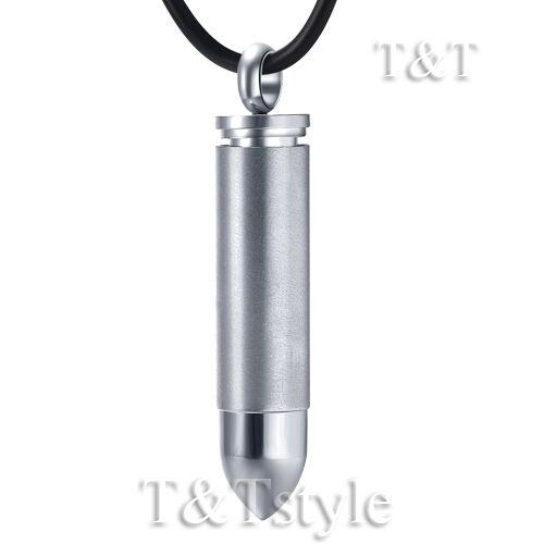 T/&T Stainless Steel Plain SERCET BULLET Pendant Necklace NP185S