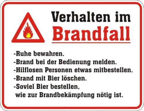 112 TOP Blechschild Schild Verhalten im Brandfall