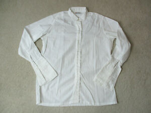 Turnbull-amp-Asser-Button-Up-Shirt-Womens-Size-10-White-Long-Sleeve-Casual