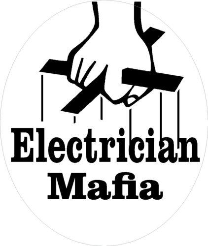 Electrician mafia hard hat sticker CE-27