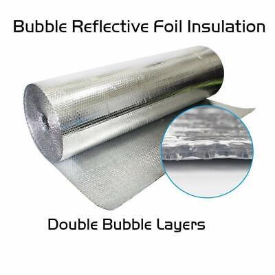 """Refletek 48/"""" x 100/' Double Bubble Reflective Foil Insulation 400sqft"""