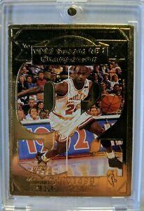1998-UD-Career-Highlights-22K-Gold-Michael-Jordan-2nd-NBA-Championship-92-Card